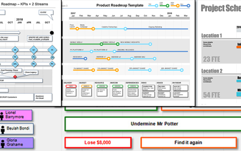 what is a project roadmap? a 101 for roadmap basics., Presentation templates