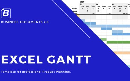 An Excel Gantt Chart Template with multiple formats.